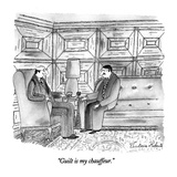 """Guilt is my chauffeur."" - New Yorker Cartoon Premium Giclee Print by Victoria Roberts"