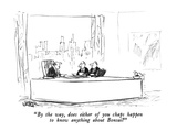 """By the way, does either of you chaps happen to know anything about Bonsai…"" - New Yorker Cartoon Premium Giclee Print by Robert Weber"