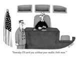 """Someday I'll catch you without your mallet, little man."" - New Yorker Cartoon Premium Giclee Print by J.C. Duffy"