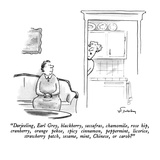 """Darjeeling, Earl Grey, blackberry, sassafras, chamomile, rose hip, cranbe…"" - New Yorker Cartoon Giclee Print by Mike Twohy"