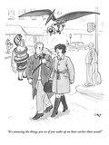 """It's amazing the things you see if you wake up an hour earlier than usual…"" - New Yorker Cartoon Premium Giclee Print by Carolita Johnson"