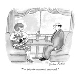 """You play the castanets very well."" - New Yorker Cartoon Premium Giclee Print by Victoria Roberts"