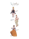 "Three rather burly men in drag, labeled, respectively, ""RuPhil"", ""RuMurray… - New Yorker Cartoon Premium Giclee Print by Barry Blitt"