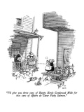 """I'll give you three cans of Happy Herds Condensed Milk for two cans of Af…"" - New Yorker Cartoon Premium Giclee Print by George Booth"