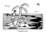"""Oil! We're rich!"" - New Yorker Cartoon Premium Giclee Print by Farley Katz"