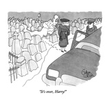 """It's over, Harry!"" - New Yorker Cartoon Premium Giclee Print by Gahan Wilson"