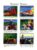 Summer Visitors - New Yorker Cartoon Giclee Print by Huguette Martel