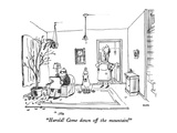 """Harold!  Come down off the mountain!"" - New Yorker Cartoon Premium Giclee Print by George Booth"