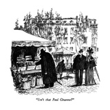 """Isn't that Paul Cézanne"" - New Yorker Cartoon Premium Giclee Print by Robert Weber"