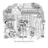 """Sure makes a change from New York!"" - New Yorker Cartoon Premium Giclee Print by Gahan Wilson"