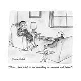 """Others have tried to say something in macramé and failed."" - New Yorker Cartoon Giclee Print by Victoria Roberts"