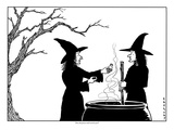 """Does this poison smell weird to you"" - New Yorker Cartoon Premium Giclee Print by Alex Gregory"