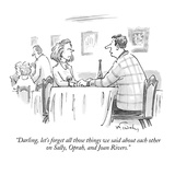 """Darling, let's forget all those things we said about each other on Sally,…"" - New Yorker Cartoon Premium Giclee Print by Mike Twohy"
