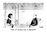 """Oh, it's feeding time in Egoville"" - New Yorker Cartoon Premium Giclee Print by Victoria Roberts"