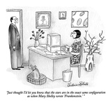 """Just thought I'd let you know that the stars are in the exact same config…"" - New Yorker Cartoon Premium Giclee Print by Victoria Roberts"