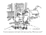 """I want an eponymous retail empire when I grow up, Greg.  What do you want…"" - New Yorker Cartoon Premium Giclee Print by Michael Crawford"