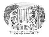 """If it isn't genetic at all, but just the upshot of growing up in Jersey, …"" - New Yorker Cartoon Premium Giclee Print by Victoria Roberts"