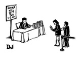Line for author of book to text message you. - New Yorker Cartoon Premium Giclee Print by Drew Dernavich