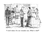 """I don't believe I've ever shovelled snow.  What's it like"" - New Yorker Cartoon Premium Giclee Print by Robert Weber"