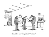 """You fellers seen 'Sling Blade,' I reckon."" - New Yorker Cartoon Premium Giclee Print by Jon Agee"