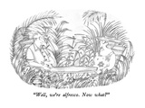 """Well, we're alfresco.  Now what"" - New Yorker Cartoon Premium Giclee Print by Victoria Roberts"
