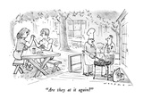 """Are they at it again"" - New Yorker Cartoon Premium Giclee Print by Bill Woodman"