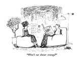 """What's our dinner strategy"" - New Yorker Cartoon Premium Giclee Print by Robert Weber"
