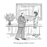 """I'm leaving my ankles to science."" - New Yorker Cartoon Premium Giclee Print by Victoria Roberts"