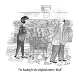 """I'm headed for the artificial butters. You"" - New Yorker Cartoon Premium Giclee Print by Victoria Roberts"