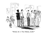 """Arnold, this is Tina Feldman, backlit."" - New Yorker Cartoon Premium Giclee Print by Robert Weber"