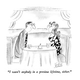 """I wasn't anybody in a previous lifetime, either."" - New Yorker Cartoon Premium Giclee Print by Victoria Roberts"