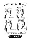 This is a Test, Which One Is Not A Classical Order - New Yorker Cartoon Premium Giclee Print by Stephanie Skalisky