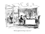 """And my approval rating is sixty-two."" - New Yorker Cartoon Premium Giclee Print by Robert Weber"