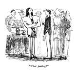 """What padding"" - New Yorker Cartoon Premium Giclee Print by Robert Weber"