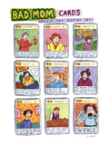 Bad Mom Cards: Collect The Whole Set! - New Yorker Cartoon Premium Giclee Print by Roz Chast