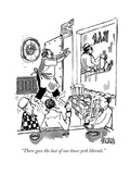 """There goes the last of our knee-jerk liberals."" - New Yorker Cartoon Giclee Print by Brian Savage"