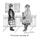 """I'm all faux and loving it!"" - New Yorker Cartoon Regular Giclee Print by Victoria Roberts"