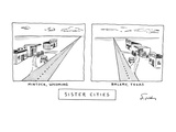 Sister Cities - New Yorker Cartoon Giclee Print by Mike Twohy