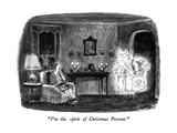 """I'm the spirit of Christmas Present."" - New Yorker Cartoon Premium Giclee Print by Robert Weber"