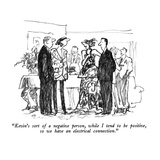 """Kevin's sort of a negative person, while I tend to be positive, so we hav…"" - New Yorker Cartoon Giclee Print by Robert Weber"