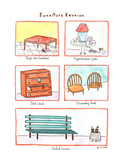 Furniture Reunion - New Yorker Cartoon Premium Giclee Print by John S.P. Walker