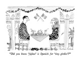 """Did you know 'fajitas' is Spanish for 'tiny girdles'"" - New Yorker Cartoon Premium Giclee Print by Victoria Roberts"