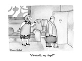"""Farewell, my liege!"" - New Yorker Cartoon Premium Giclee Print by Victoria Roberts"