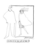 A Little of Him And Lots Of Her - New Yorker Cartoon Premium Giclee Print by David Pascal