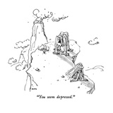 """You seem depressed."" - New Yorker Cartoon Premium Giclee Print by George Booth"