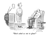 """Bush asked us not to gloat."" - New Yorker Cartoon Premium Giclee Print by Mike Twohy"