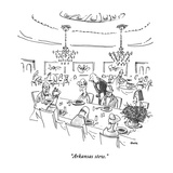 """Arkansas stew."" - New Yorker Cartoon Premium Giclee Print by George Booth"