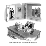 """Oh, he's the one that went to market."" - New Yorker Cartoon Premium Giclee Print by Kenneth Mahood"