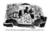 """On the other hand, if we backpedal too much, we'll lose the hate vote."" - New Yorker Cartoon Premium Giclee Print by Frank Modell"