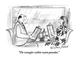 """The wrangler within wants pancakes."" - New Yorker Cartoon Premium Giclee Print by Victoria Roberts"